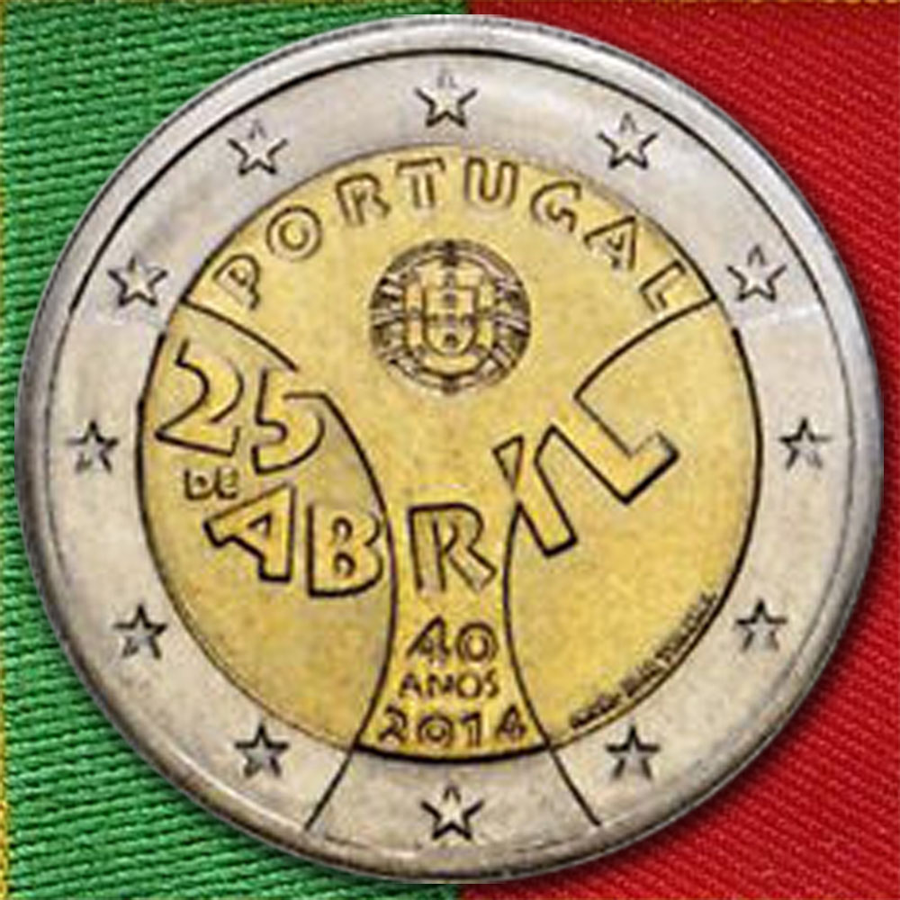 2 Euro Nelkenrevolution Portugal 2014